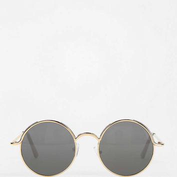 Follow The Lines Round Sunglasses - Urban Outfitters