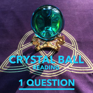 Crystal Ball Reading, Scrying, 1 Question, QUICK RESPONSE, Email
