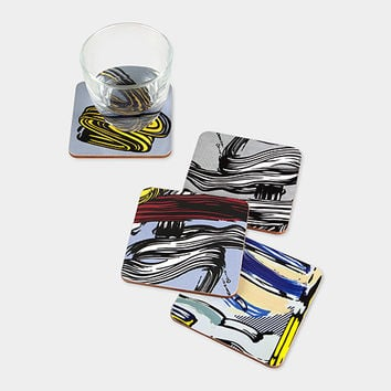 Roy Lichtenstein: Brushstroke Coasters