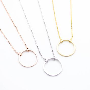 Circle Eternity Necklace