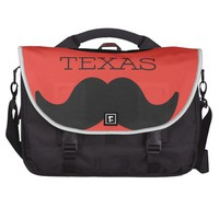 Texas in RED Laptop Bags