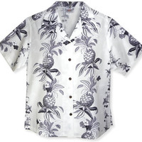 pineapple dance white lady camp blouse