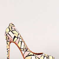 Abstract Snake Pointy Toe Pump