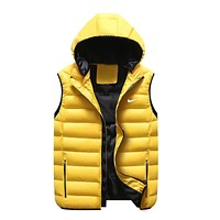 Nike Women Men Fashion Casual Sleeveless Hooded Cardigan Jacket Coat Windbreaker