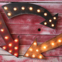 "Big 24"" Arrow Vintage Inspired Marquee Lighted Wood"