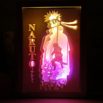 Naruto Anime paper cut light box lightbox