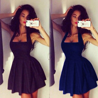 Halter Mini Dress [6259292484]