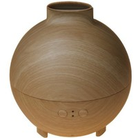 Original AromaCare 600ML Pod Shaped Wood Grain Aromatherapy Diffuser Ionizer Ultrasonic Humidifier Use with Essential Oils - FREE Lavender Bath Salts While Stocks Last