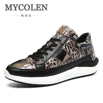 MYCOLEN 2018 New Summer Breathable Men Casual Shoes Slip On Male Fashion Footwear Height Increasing Sneakers Sepatu Casual Pria