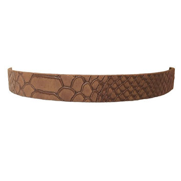 Sleek Snakeskin Choker Necklace Set In Brown