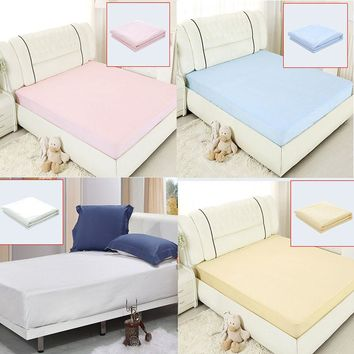 Waterproof Bed Sheets Changing Mat Mattress Protector Cover Pad With TPU E2shopping