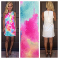 True Colors Sleeveless Shift Dress