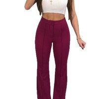 High Waist Zipped Pants