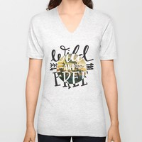 Wild and Free Unisex V-Neck by Misty Diller of Misty Michelle Design