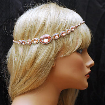 Best Rose Gold Bridal Headband Products on Wanelo