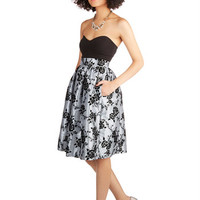 ModCloth Vintage Inspired Long Fit & Flare Posh at the Party Skirt