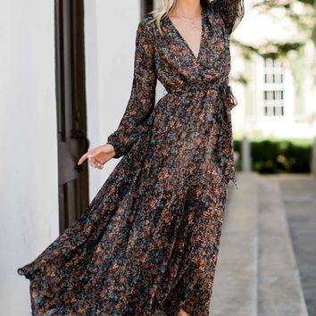 Fringe Wild Temptation Print Maxi Dress