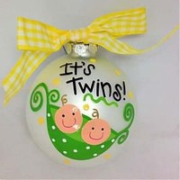 Twins Pea Pod Ornament