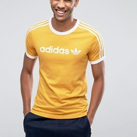 adidas Originals Adicolor Linear T-Shirt In Yellow BR4334 at asos.com