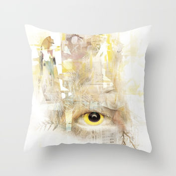 Catching Images Throw Pillow by Marie-Pier Cadorette