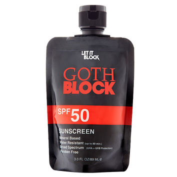 Let it Block Goth Block SPF 50
