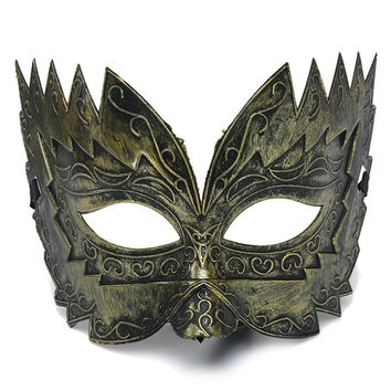 Vintage Jaggedly Engraved Eye Masquerade Mask