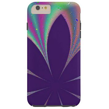 gorgeous purple floral abstract tough iPhone 6 plus case