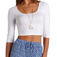 CAGED CUT-OUT BACKLESS CROP TOP