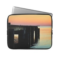 Sunrise Over Chesapeake Bay Laptop Sleeve from Zazzle.com