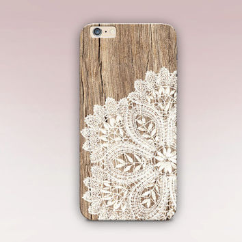 Wood Lace Phone Case For - iPhone 6 Case - iPhone 5 Case - iPhone 4 Case - Samsung S4 Case - iPhone 5C - Tough Case - Matte Case - Samsung