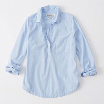 PREPPY SLIP BACK SHIRT