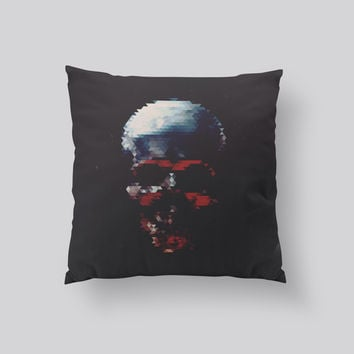 Throw Pillows for Couches / Skull by Leftfield_Corn