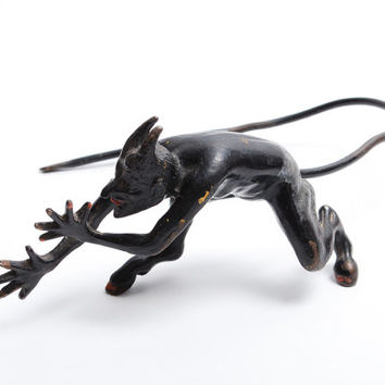 Vintage Metal Figurine, Statuette, Black Devil (Art.CI667)