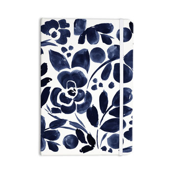 "Crystal Walen ""Watercolor Floral"" - Navy Painting Everything Notebook"