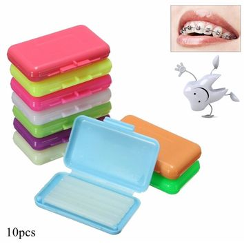 Mrosaa 10 Pcs/Set Dental Orthodontics Ortho Wax Mix Scent for Braces Bracket Gum Irritation Teeth Whitening Oral Hygiene Tool