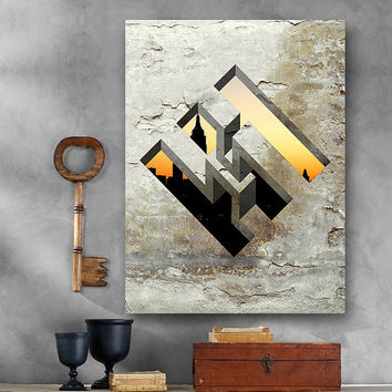 Optical Illusion - Large - 5 sizes - Printable Digital Download - Wall Office, Dorm, Home Decor, Poster, Card Making, Gift Idea - CP-839a