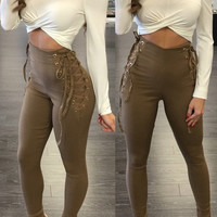 2016 New fashion high quality bodycon pants full length sexy women pants