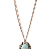 Favorite Faux Stone Pendant Necklace