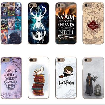 Avada Kedavra Bitch Harry Potter Mapa Hogwarts books deer Hard Phone Case Cover For iPhone 5 5s SE 6 6sPlus 7 7Plus 8 8 Plus X