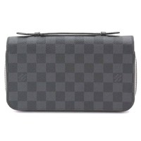 Auth LOUIS VUITTON Damier Graphite Zippy XL Clutch Bag Round Wallet 90047842