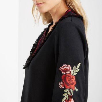 Black Rose Pullover Dress
