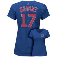 Majestic Chicago Cubs Kris Bryant Player Name and Number Tee - Women's, Size: