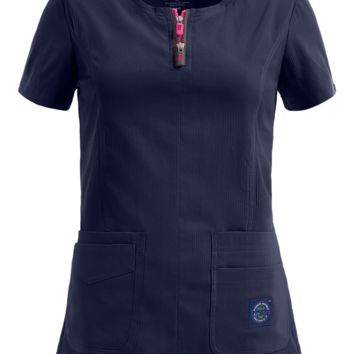 koi Lite™ Scrubs 317 Serenity Double Zipper Top | Fashion Scrub Tops
