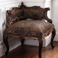 "Massoud - ""Tiger"" Corner Chair - Horchow"