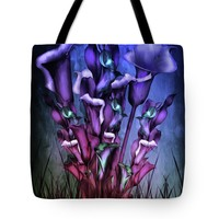 Lily Fantasy By Night Tote Bag