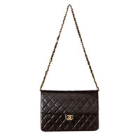 Chanel Chocolate Brown Classic WOC Shoulder Bag.  Beautiful!