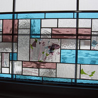 Geometric Stained Glass Panel -- Spring Time