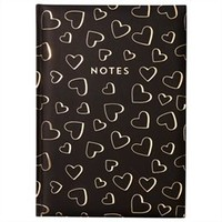 Embossed Journal - Hearts All Over, Black by Indigo | Hard Cover Journals Gifts | chapters.indigo.ca