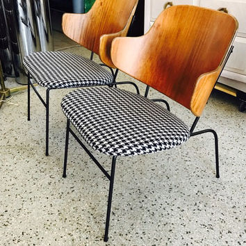 "A Pair of Kofod-Larsen ""Penguin"" Chairs Danish Modern"