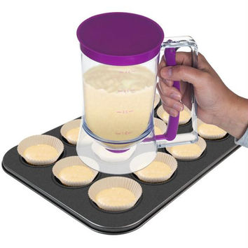 Chef Buddy Pan Cup Cake Batter Dispenser - 4 Cup Capacity
